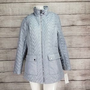 NWT Via Spiga S Cargo Quilted Jacket in Moonstone